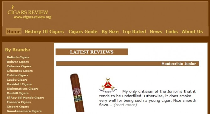 Cuban Cigar Review Website