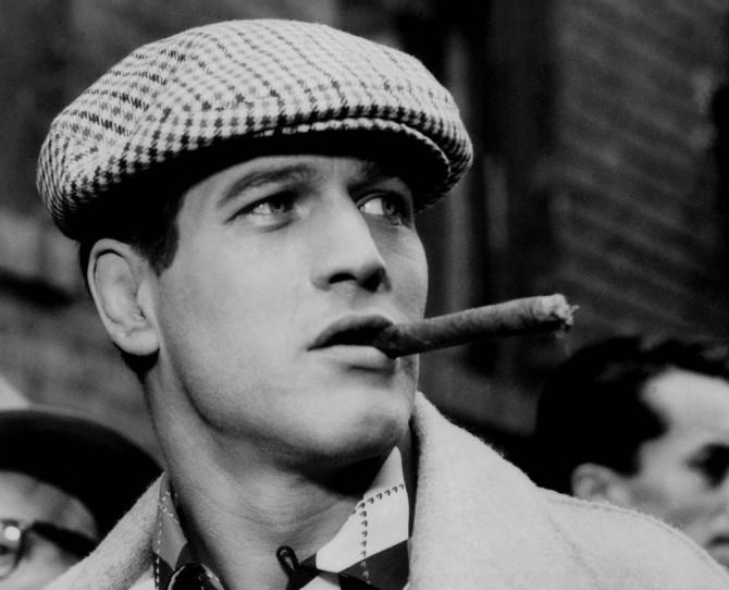 Paul-Newman-Fumando-Puro-Habano-Nueva-York-1956-Fumadero-com