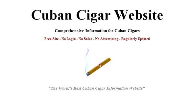 CubanCigarWebsite, la mejor enciclopedia en línea sobre habanos