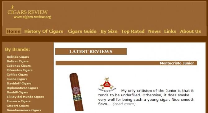 Cuban Cigar Review Website